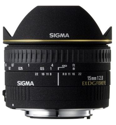 Sigma 15mm f/2.8 EX DG Diagonal Fisheye Lens for canon SLR Cameras в Ош