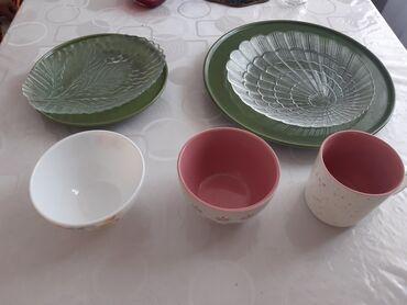 Кухонные принадлежности - Кыргызстан: Новая посуда!Все по 6 шт кроме большой зелёной тарелки 3 шт