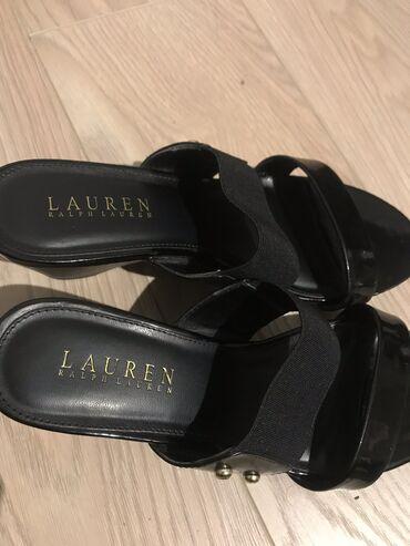 Cipele Ralph Lauren crne. Broj 6.5 (36.5). Visina 7 sm, platforma 2 sm