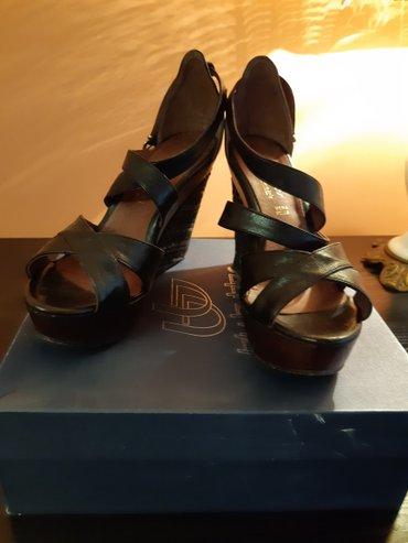 Italijanske cipele blu byblos, crne, 38, visina podpetice 12cm, ocuvan - Crvenka