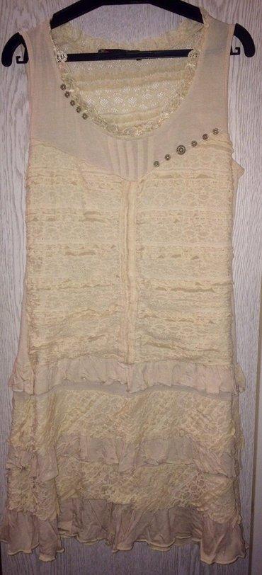 Od-haljina-cipke - Srbija: Haljina od krem cipke