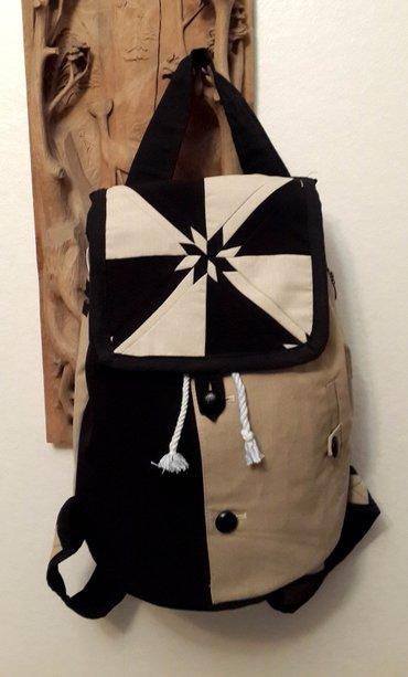 """Стильный новый рюкзак в стиле пэчворк. Рисунок называется """"звезда"""