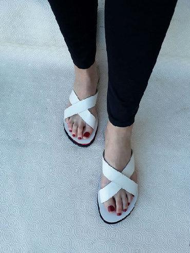 Ženska obuća | Valjevo: Kožne papuce- broj 39. Jako udobne i lagane- prirodna koza- broj 39