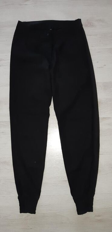 Lanene pantalone - Srbija: Lanene pantalone crne L
