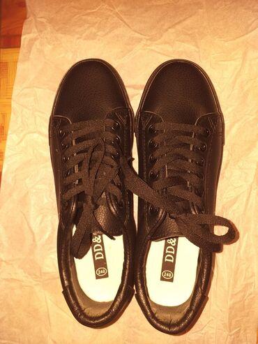 купить женскую обувь недорого в Кыргызстан: Кеды женские черные кожаные Размер 38Состояние совершенно новое Есть