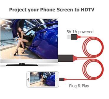 apple iphone 4 32gb в Кыргызстан: Вашему вниманию представлен USB HDMI Кабель для iPhone 5 6 7