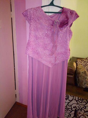 вечернее платье 52 54 размер в Кыргызстан: Продаю нарядное платье. Привезено с Германии. Одевали 1 раз на
