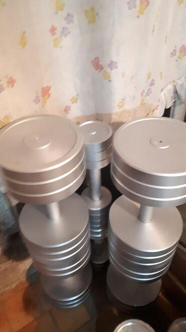 неразборные гантели в Кыргызстан: Гантели профессиональные неразборные 8 кг . 18 кг. 24 кг. 28 кг