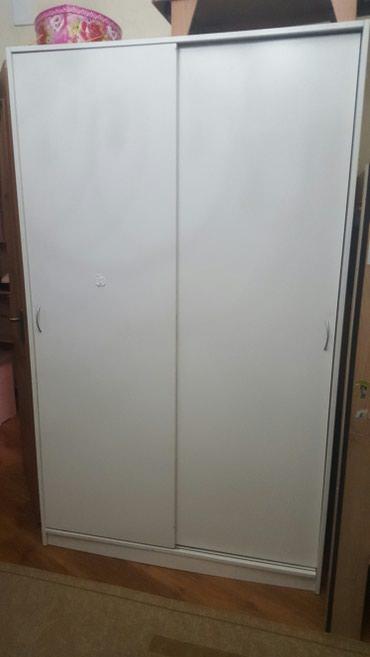 Шкаф купе в хорошем состоянии от ИКЕЯ, полки + вешалка в Бишкек