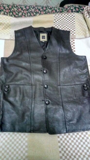 Кожаный новый, жилет, размер 58-60, оригинал. Производство Турция