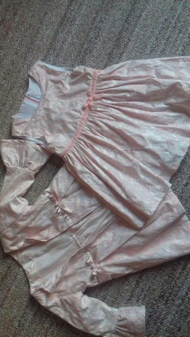 Decije haljine - Zajecar: Haljina i mantil u kompletu, velicina 86. Dins, novo
