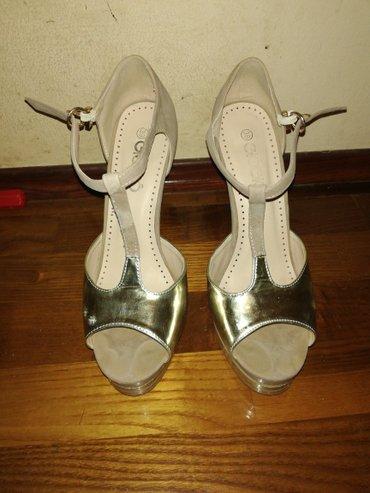 Prelepe krem zlatne sandale, veoma atraktivne i prelepo stoje, br 39. - Nis