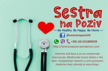 Medicinska sestra - Srbija: Ostanite kod kuce a za sve medicinske intervencije, Medicinska Sestra