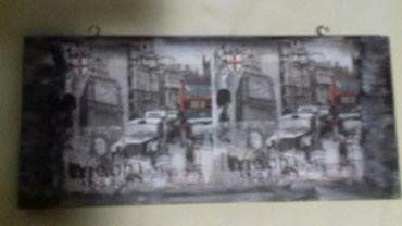 Slike | Crvenka: Slika na univer podlozi.Dimenzije 40x18 cm.Motiv London.Dekupaz