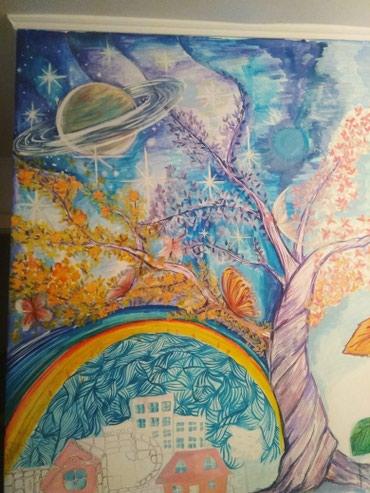 Рисую на стекле, стенах в Бишкек