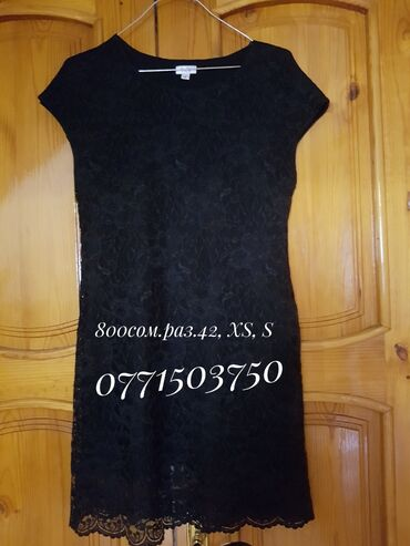 черное платье футляр в Кыргызстан: Платье футляр, гипюр мягкий. Разм 42, цвет черный, состояние отличное