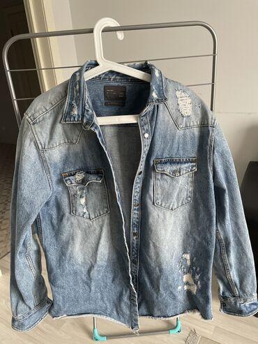 Рубашка/ джинсовка  Zara man  В Бишкеке такой нет  Размер : M/L Mex 42