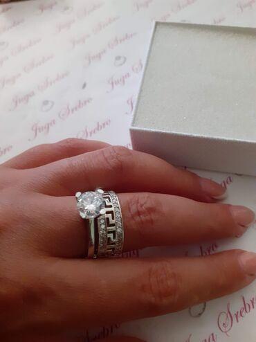 Prstenovi - Srbija: Versaci prsten srebro 18 mm Cena 2400