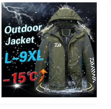 Muske jakne zimske - Srbija: Muska topla jakna za zimu L-9XL Robu nemam na stanju,porucuje se po bo