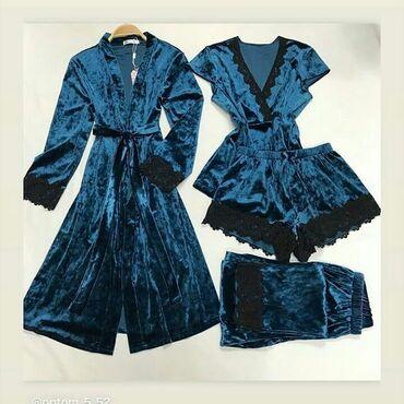 дома в Кыргызстан: Велюровые пижамы, размеры стандартные, есть доставка по городу и по