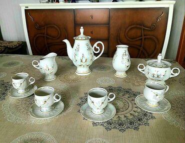 Kofe dəsti Gürcüstandan alınıb. İşlənməyib. 12 predmeti var. 40