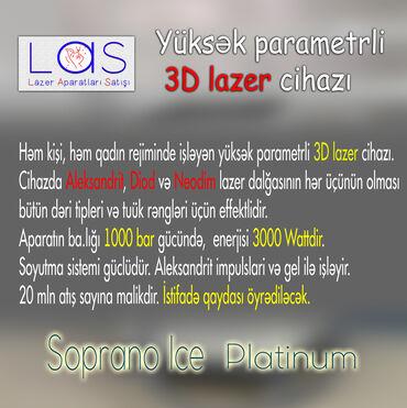 aleksandrit lazer - Azərbaycan: Həm kişi, həm qadın rejiminde işləyən yüksək parametrli 3D lazer