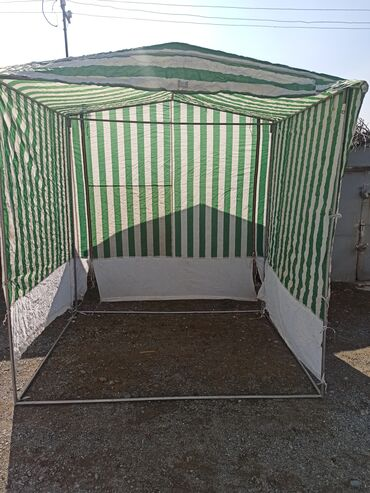 Палатка - алюминевый раскладной каркас, тент водонепроницаемый, по