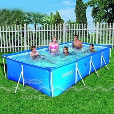 Каркасный бассейн 400х211х81 см Bestway прямоугольный 400х211х81 см
