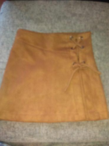 Zara suknja,veličina 9, imitacija prevrnute kože,očuvana,par puta - Vrsac