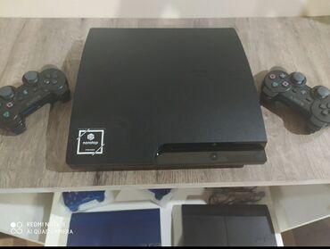 almaq - Azərbaycan: Sony playstation 3 slim 250GB. 2 pult, yaddaşinda 25 secmə oyun