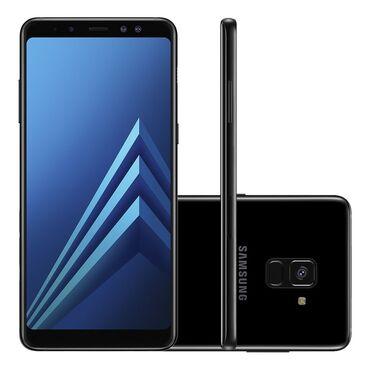 samsung galaxy c7 в Кыргызстан: Б/у Samsung Galaxy A8 Plus 2018 32 ГБ Черный