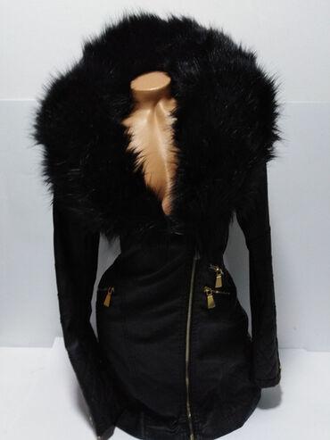 Flamant Rose vrhunska nova jakna sa bogatim krznom,prelep strukirani