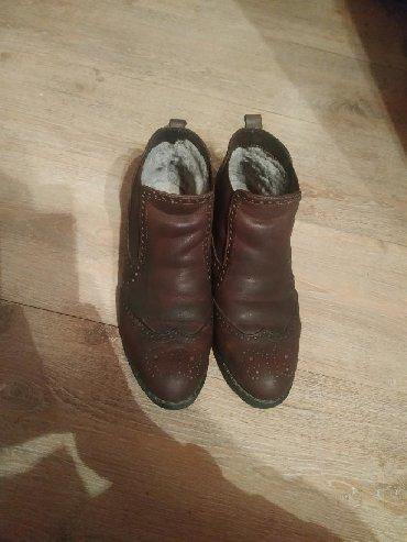 Ботинки - Кок-Ой: Ботинка чистая кожа внутри натуральный и снаружи размер 38 состояние