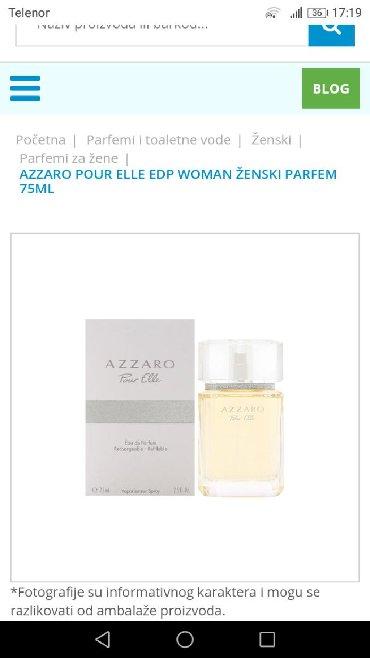 Haljina-pour-elle - Srbija: Parfem original Azzaro Pour Elle 75 ml