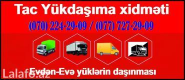 Bakı şəhərində Tac Yükdaşıma xidməti -
