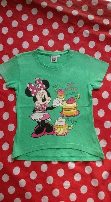 Majica zelena - Srbija: Zelena Disney Minnie majica, za uzrast 4-5 godina