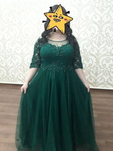 зелёное вечернее платье в Кыргызстан: Продаю вечернее платье в отличном состоянии, одевала пару раз. Подходи