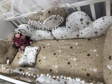 Бортики в кроватку Тигруля. Таш рабат 1 этаж в Бишкек