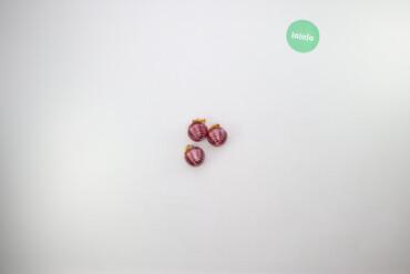 Дом и сад - Украина: Ялинкові прикраси кульки   Кількість: 3 шт. Діаметр: 5 см  Стан гарний