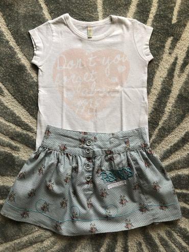 Beneton majica i hipo junior suknja, vel 2, kao novo - Belgrade