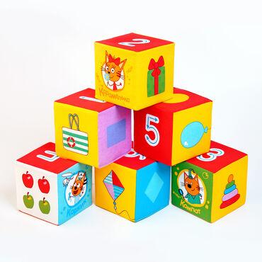 Детский мир - Кант: Миу-миу-миу! Распродажа!6 мягких кубиков «Математика Три Кота»