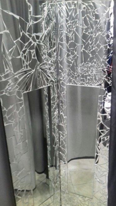 Ogledala - Arandjelovac: Ogledalo-mozaik! 177 × 76 cm. Iz dva dela,na sarkama. Imaju mogucnost