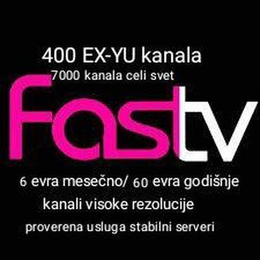 IPTV Televizija za sve uredjaje pc android box smart tv Ex-yu kanali
