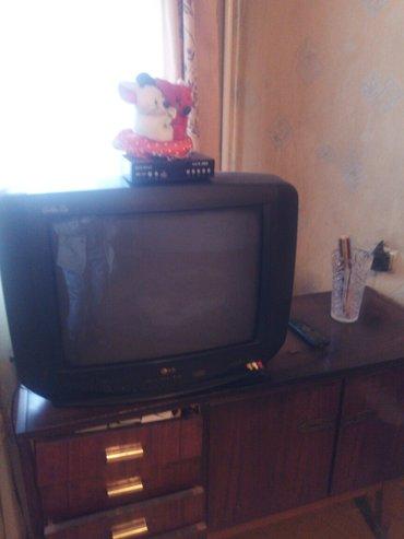 телевизор, отл. сост. , + ресивер (новый) и мягкая игрушка в подарок) в Бишкек