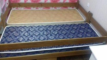 Кровать ЭвроСтиль матрасы от Лины и две полки выдвижные   в Бишкек
