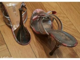 Fly levis the original - Srbija: Casadei original sandale-papuce broj 38b. Koza naravno i original