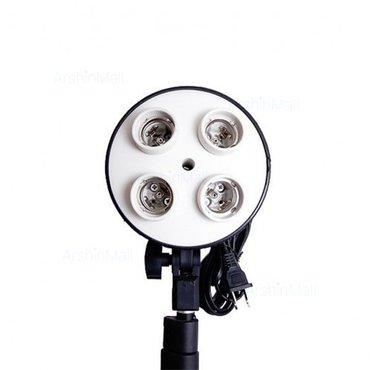 Bakı şəhərində 4 girişli lampa adapteri