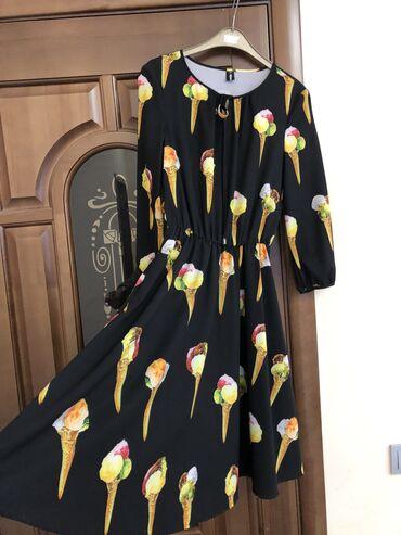 платья рубашки без рукавов в Кыргызстан: Яркое платье для любителей всего яркого и интересного. А-силуэт