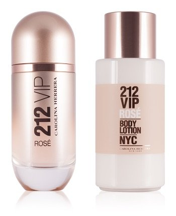 Carolina Herrera VIP 212 rose gift set. Εue de parfum 80ml και body lo