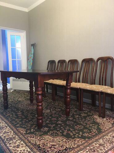 т т к н 2 класс в Кыргызстан: Продаётся 2 стола по 1.5м, 12 стульев